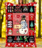 Custom Blankets I Love Being A Gigi Christmas Blanket - Fleece Blanket