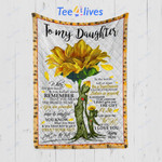 Custom Quilt Blanket Sunflower To My Daughter Blanket - Gift For My Daughter - Quilt Blanket