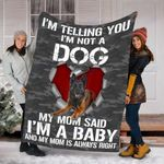 Customs Blanket Tervuren Dog Blanket - Fleece Blanket