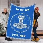 Custom Blankets To My Son Blanket - Perfect Gift For Son 3 - Fleece Blanket