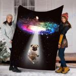 Custom Blanket Space Pug Galaxy Blanket - Fleece Blanket