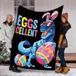 Dinosaur Easter Egg Bunny Blanket Gift For Kids - Fleece Blanket
