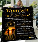 Custom Blankets To My Wife Personalized Blanket - Perfect Gift For Wife 1 - Fleece Blanket #59455