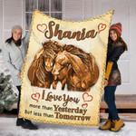 Custom Blanket Horse Personalized Name Blankets - Fleece Blanket