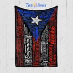 Custom Quilt Blanket Puerto Rican Flag Blanket