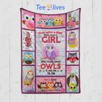 Custom Quilt Blanket OWLS Blanket - Perfect Gift For Girl
