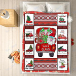 Custom Blankets - Yaya Claus Christmas Blanket - Fleece Blankets