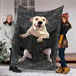 Custom Blanket Dogo Argentino Dog Pocket Blanket - Fleece Blanket