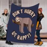 Custom Blanket Sloth Blanket - Perfect Gift For Son - Fleece Blanket