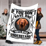 Customs Blanket Vizsla Dog Blanket - Fleece Blanket #91738