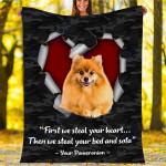 Custom Blankets Pomeranian Dog Blanket - Fleece Blanket