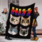 Custom Blanket Hiss Cats Kittens Rock Rockin Blanket - Fleece Blanket