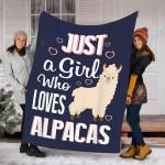 Custom Blanket Alpacas Llama Blanket - Perfect Gift For Girl - Fleece Blanket