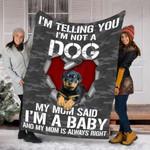 Customs Blanket Rottweiler Dog Blanket - Fleece Blanket #69902
