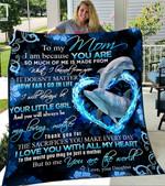 Custom Blanket To My Mom Dolphin Blanket - Gift For Mom - Fleece Blanket