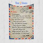 Custom Quilt Blanket Letter To My Daughter Blanket - Gift For Daughter - Quilt Blanket