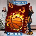 Custom Blankets BASKETBALL Personalized Blanket 1 - Fleece Blanket