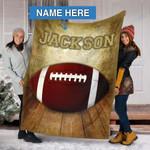 Custom Blankets Football Personalized Blanket 4 - Fleece Blanket