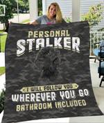 Custom Blanket Poodle Black Dog Quilt Blanket - Quilt Blanket