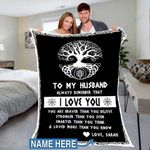 Custom Blankets To My Husband Personalized Blanket - Perfect Gift For Husband 2 - Fleece Blanket