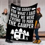 Custom Blanket RV Camping Blanket - Fleece Blanket
