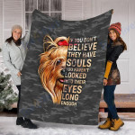 Customs Blanket Yorkie Terrier Dog Blanket - Fleece Blanket