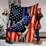Custom Blanket Massachusetts State Police Blanket - Fleece Blanket