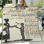 Custom Blanket To Our Loving Mom Blanket - Gift For Mom - Fleece Blanket