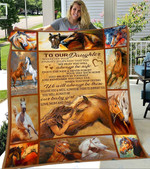 Custom Blanket Horse To Our Daughter Blanket  - Gift For Daughter - Fleece Blanket