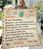 Custom Blanket Letter To My Daughter Blanket - Gift For Daughter #56949