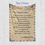 Letter To My Daughter Blanket - Gift For Daughter (New custom) #49961