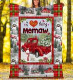 Custom Blankets - Memaw Christmas Blanket Xmas - Fleece Blanket