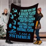 Custom Blanket I Am A Swimmer Blanket - Fleece Blanket