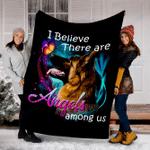 Customs Blanket German Shepherd Angels Among Us Classic Dog Blanket - Fleece Blanket