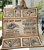 Custom Blanket To My Dad Blanket - Gift for Dad - Fleece Blanket #99256