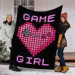 Custom Blanket Kids Video Game Girl Blanket - Perfect Gift For Girlfriend - Fleece Blanket