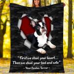 Custom Blankets Boston Terrier Dog Blanket - Fleece Blanket #75330
