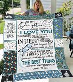 Custom Blanket To My Daughter Blanket - Gift For Daughter - Fleece Blanket #25537