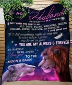 Custom Blanket To My Husband Lion Blanket - Gift For Husband - Quilt Blanket #46544