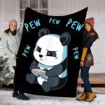 Custom Blanket Panda Pew Blanket - Perfect Gift For Son - Fleece Blanket