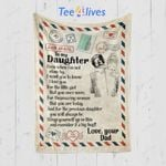 Custom Blanket Personalized Name Letter To My Daughter Blanket - Gift for Daughter #23220