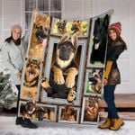 Custom Blanket 3D German Shepherd Dog Blanket - Fleece Blanket
