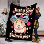 Custom Blanket Guinea Pig Blanket - Perfect Gifts For Girls - Fleece Blanket