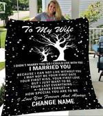 Custom Blanket To My Wife Personalized Name Blankets - Fleece Blanket