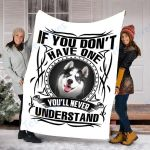Customs Blanket Husky Dog Blanket - Fleece Blanket #15974