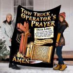 Custom Blanket Tow Truck Operator's Prayer Blanket - Fleece Blanket