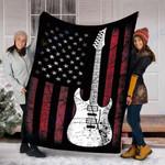 Custom Blanket Guitar Blanket - Perfect Gift For Dad - Fleece Blanket