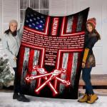 Custom Blanket Lineman's Prayer Blanket - Perfect Gift For Dad - Fleece Blanket