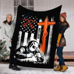 Custom  Blanket Welder American Flag - USA Patriotic Welder Blanket - Fleece Blanket