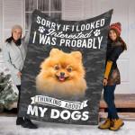 Customs Blanket Pomeranian Dog Blanket - Fleece Blanket #53854